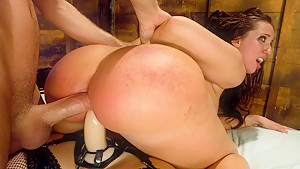 Amazing anal, fetish sex clip with crazy pornstars Bobbi Starr, James Deen and Kelly Divine from Everythingbutt
