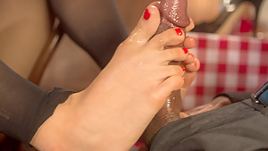 Crazy fisting, fetish adult clip with best pornstars Mickey Mod and Milcah Halili from Footworship