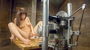 Amazing fetish sex scene with horny pornstar Rahyndee James from Fuckingmachines
