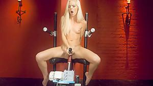 Exotic fetish adult clip with amazing pornstar Halle Von from Fuckingmachines