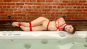 Crazy fetish sex video with horny pornstar Sasha Grey from Waterbondage