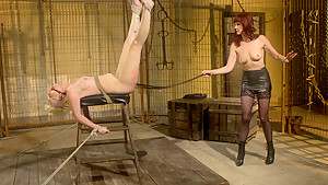 Hottest fetish sex scene with incredible pornstars Sasha Knox and Maitresse Madeline Marlowe from Whippedass