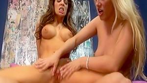 Fabulous pornstars Vanessa Lane and Ava Vincent in hottest blonde, brunette porn clip