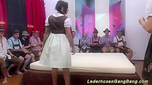 three german girls gangbang orgy