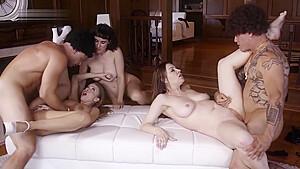 Retro Orgy, Girls With Bushy Pussies Fucking Hard