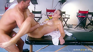 Oiled Abbey Brooks is drilled by Toni Ribas
