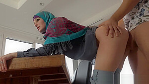 Good Muslim Girl Gets Fucked Good and Proper