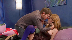 Faye Reagan is a hot, red haired chick who likes to have sex on the sofa