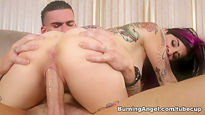 Fabulous pornstar Joanna Angel in Crazy Facial, Anal adult scene