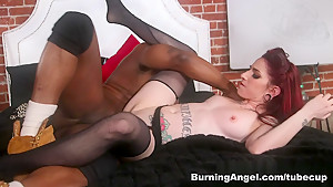 Crazy pornstars Prince Yahshua, Sheena Rose in Exotic Interracial, Redhead sex clip