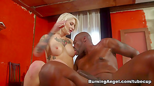 Best pornstars Lexington Steele, Kleio Valentien in Horny Blonde, Emo sex scene