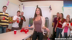 The pimp Bang Bros crew crashes a frat party