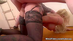 Hottest pornstar Mia De Berg in Fabulous Threesomes, Anal sex scene