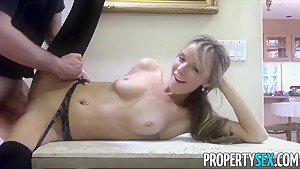 PropertySex Petite Pristine Edge Fucks Perv Who Wants to Buy House