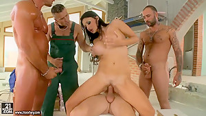 Aletta Ocean in a wild hardcore gang bang