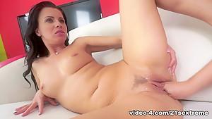 Horny pornstars Vicky Love, Anina Silk in Crazy Brunette, Fisting sex movie