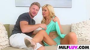 Stunning blonde MILF Sasha Sean