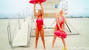 Bridgette B And Nicolette Shea In BabeZZ Watch A XXX Parody