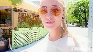 Naomi Woods In Friendly Blonde Fucks in Public