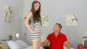 She fell in love with the apartment and paying the rent with sex