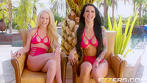 Elsa Jean And Katrina Jade In A Day With Pornstar