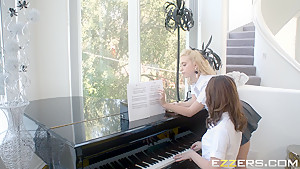 Chloe Cherry And Joseline Kelly In Tickling The Ivories