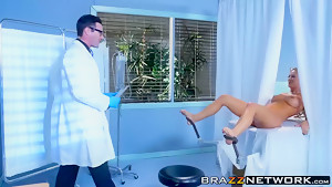 Horny big boobs MILF getting filled up with doctors fat dick
