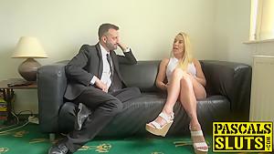 Big boobs blonde Lexi Ryder enjoying rough sex with Pascal