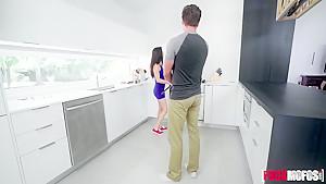 Jasmine Vega In New House Kitchen Sex