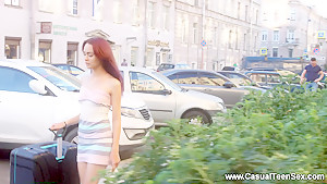 Casual Teen Sex - Michelle - Teen redhead sex in a big city