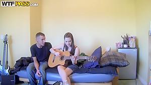 Brandy plays the guitar as good as she sucks balls