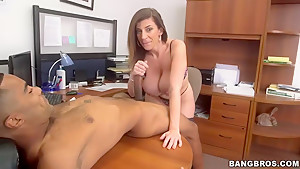 Blowjob in the office