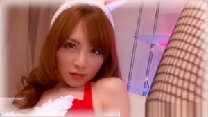 Heavenly Haruhi Suzumiya ate out wearing bunny suit
