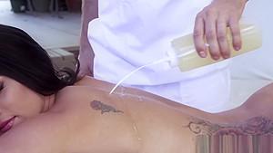 Busty Peta Jenese receives hardcore massage