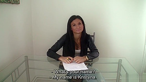 Young Czech Amateur hottie gets hard doggy style