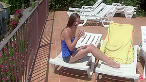 Agnessa in passionate sex scene with a real amateur couple