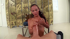 Natural Titted Hooker Pov Jerking Cock