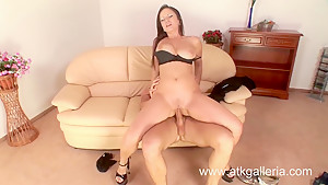 Big tit Lucie gets fucked hard