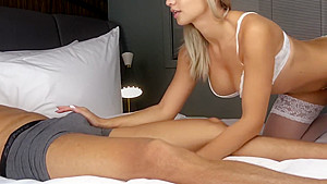 Blonde Blowjob and Fuck Big Cock