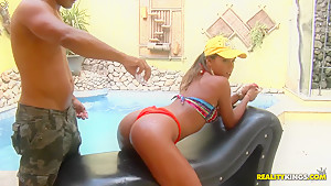 Lolah gets oiled up and pounded like a dirty whore