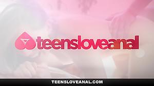 TeensLoveAnal - Adorable Brunette Gets Her Ass Stuffed