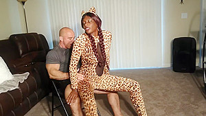 Lap dance from Paris Love in Cheetah costume