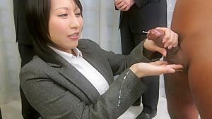 Amazing Japanese whore Yuuna Hoshisaki in Hottest JAV uncensored Handjobs clip